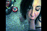 Italian woman sucking at home