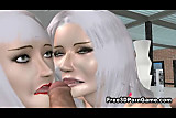 Two sexy 3D cartoon hotties getting fucked hard