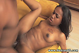 Young beauty Mocha Love drools on phat dick