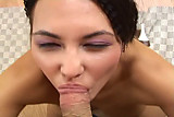 amateur gf knows how to suck her man off