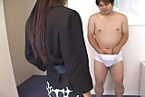 Japanese Secretary in hot Handjob