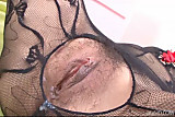 Hatsuka Kobayashi in a sexy fishnet body suit toye