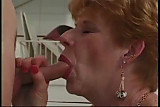 Classic Granny banged in kitchen