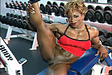 female bodybuilder big clit workout