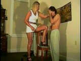 femdom spanks maleslave otk - over the knee