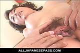 Japanese mature cat with spots has her old pussy s