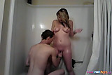 Busty Teen Doggystyle Sex In The Shower