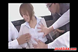 Mosaic: Asian office lady fucked in a bus